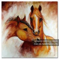 Wholesale Number:OSM-An10092Home decoration modern frameless Horsespaintings on canvas from china suppliers