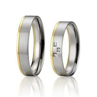 Wholesale Fashion Jewelry Custom Stainless Steel Wedding Band Sets for Man and Woman Gold Plated from china suppliers