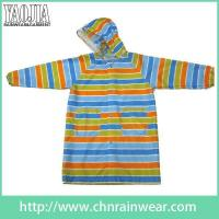 Wholesale Toddler Girl Colorful Hooded Long Raincoat Women's Rain Slicker from china suppliers