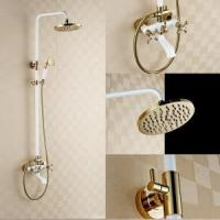 Wholesale Luxury bathroom wall mounted brass hand shower set KD-50401 from china suppliers