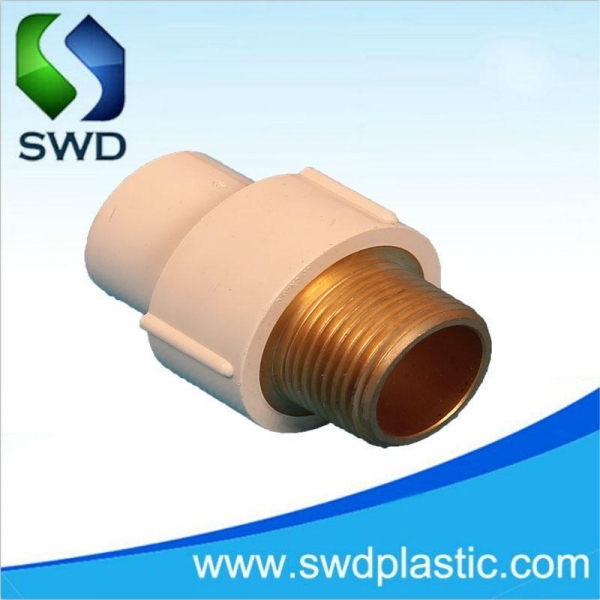 C pvc male coupling with copper thread of item