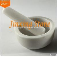 Wholesale Hot Sale White Marble Mortar and Pestle Set, Herbs&Spices Grinder, Kitchenware Tool from china suppliers