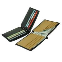 China Two-tone Full-Grain Leather Money-clip Wallet(708) on sale