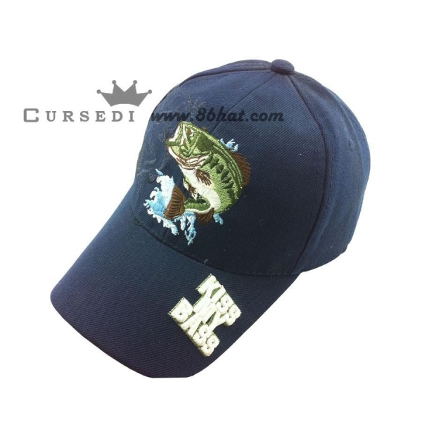 Baseball cap Kiss my bass fish baseball caps of item 49774162