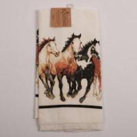 China Running Horses Terry Kitchen Towel on sale