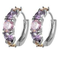 Buckle The Gold-plated Earrings Beautifully Colorful Fashion Earring Purple Ear