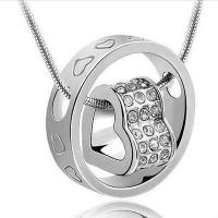 Buy cheap Foreign Trade Hot Fashion New Love Couple Short Necklace from wholesalers