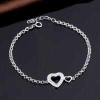 White Gold Plated Jewelry Silver Bracelet