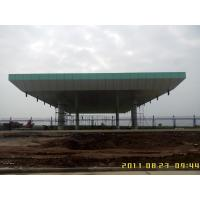 Buy cheap Pipe Truss Aluminum roof structure space truss structure for toll station from wholesalers
