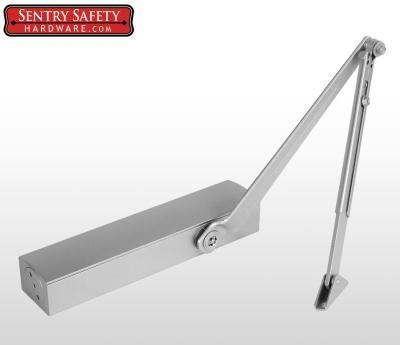Quality Sentry Safety 8026 Pivot Arm Commercial Door Closer CS, LS, BC, AS, DA, #6 - Silver Finish for sale