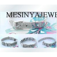 Buy cheap 8mm stainless steel slide letter DIY wire mesh buckle charm bracelet from Wholesalers