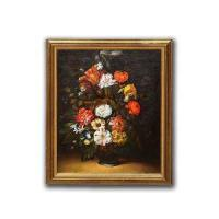 Buy cheap Handmade Wall Oil Color Floral Painting Art for Living Room from wholesalers
