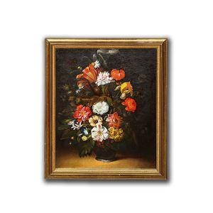 China Handmade Wall Oil Color Floral Painting Art for Living Room