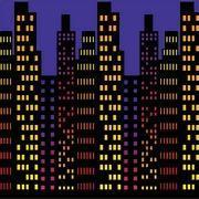 Buy cheap Cityscape Backdrop 4' x 30' from wholesalers