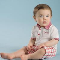 Wholesale baby clothing sets DB2631 davebella baby grid clothing sets from china suppliers