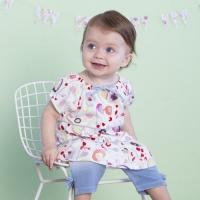 Wholesale baby clothing sets DB1787 davebella baby printed clothing sets from china suppliers