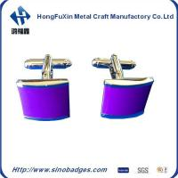 Wholesale Natural Amethyst Gem Stone Solid 925 Sterling Silver Men's Cufflink Jewelry from china suppliers