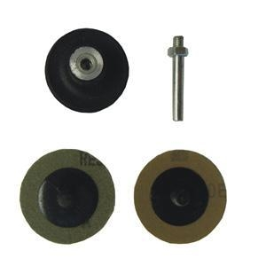 "Quality ABRASIVES 2"" QUICK CHANGE SANDING DISC SET, TYPE R, 1/4"" MANDREL for sale"