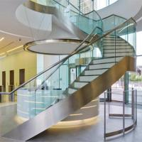 Stainless Steel Wooden Staircase PR-C26