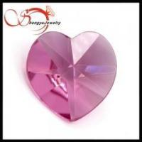 Wholesale Glass gemstones high quality pink heart shape for woman's necklace from china suppliers