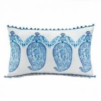 Wholesale Tasseled Blue Paisley Pillow from china suppliers
