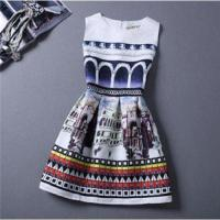 Buy cheap Women's digital party club before and after flower print casual dress from wholesalers