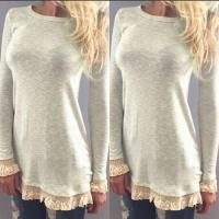 Buy cheap The new dress lace stitching long sleeve T-shirt from wholesalers