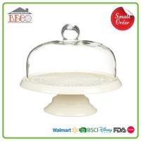 Buy cheap Plastic Vintage White Cake Stands With Dome | Melamine Pedestal Cake Stands With Cover from wholesalers