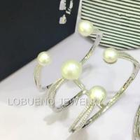Wholesale 925 SILVER BANGLE WITH OCEAN PEARL from china suppliers