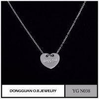 Wholesale Heart Shape Czech Rhinestone Pendant Necklace /925 Sterling Silver Micro Pave Diamond from china suppliers