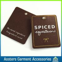 Wholesale Customized Clothing Old Fashioned Perforated Kraft Hang Tags from china suppliers