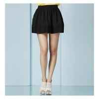 Women's Skirts In style sweetheart silhouette pleats layer elastic waistband J4165Q