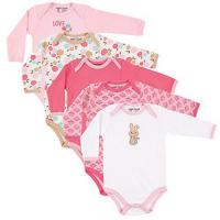Wholesale Luvable Friends 5 Pack Long Sleeve Bodysuit from china suppliers