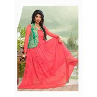 Wholesale Designer Suits blissta red net unstitched anarkali partywear gown from china suppliers