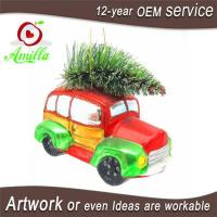 China Hand Blown Glass Car Ornaments For Christmas Trees Hanging Decorations on sale