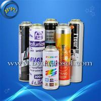 Aerosol tin cans with different sizes