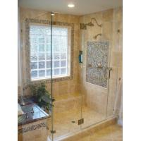 China shower with glass block window on sale