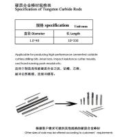 Product: Non-magnetic carbide rods
