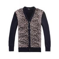 Wholesale Cheetah Print Fleeces Cardigan Sweater for Men from china suppliers