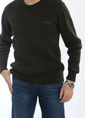 Quality Men's Winter Casual Round Neck Cotton Sweater | Basic Pullover Sweater for sale