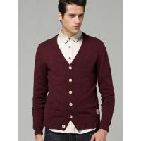 Wholesale Men's Casual Spot V Neck Long Sleeve Cardigan Sweater 98/38.6 from china suppliers