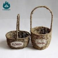 Wholesale Natural Sea Grass Material Handcraft Seagrass Basket from china suppliers