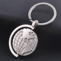 Metal global map keychain 【Material】
