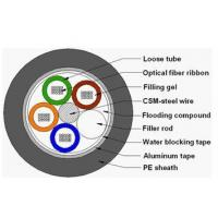 Buy cheap Ribbon optic cable Loosetuberibbonopticfibercable from wholesalers