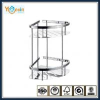 corner bathroom shelf double tiers