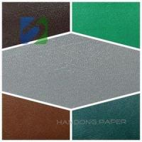 Buy cheap Flat pvc paper laminating sheet wall film embossed pvc coated paper from wholesalers