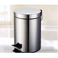 Hotel Supplies Stainless Steel Metal Pedal Trash Can Rubbish Bin and Garbage Bin