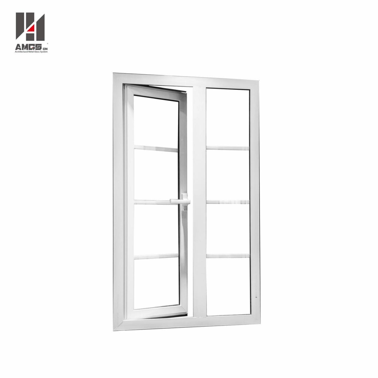 Wholesale White Aluminum Casement Doors Windows With Grill Design from china suppliers