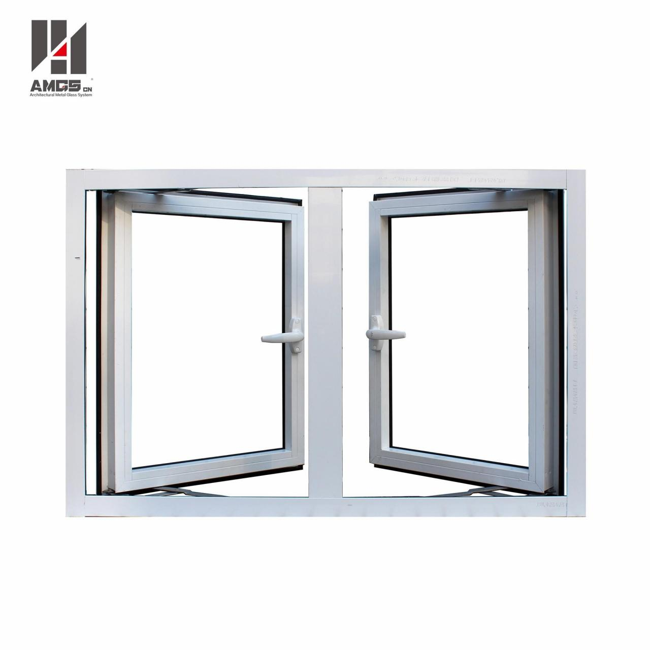 Wholesale Outward-Opening Aluminium Profile Casement Windows For Residential Or Commercial from china suppliers