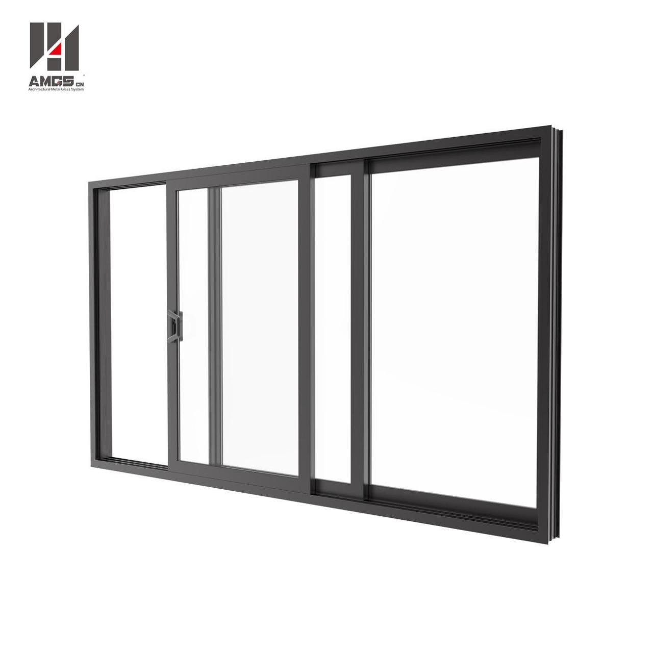 Wholesale Aluminium Profile Sliding Glass Doors For Double Glass from china suppliers